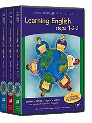 Learning English Steps 1-2-3 DVDs